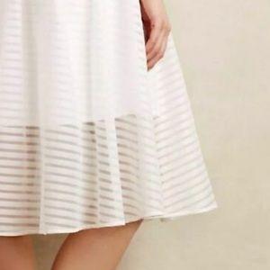 Anthropologie Leifsdottir shadow stripe midi skirt